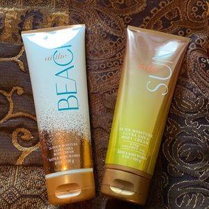 Bath and Body Works Body Cream Bundle.